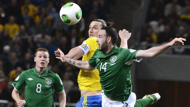 Republic of Ireland draw in Sweden