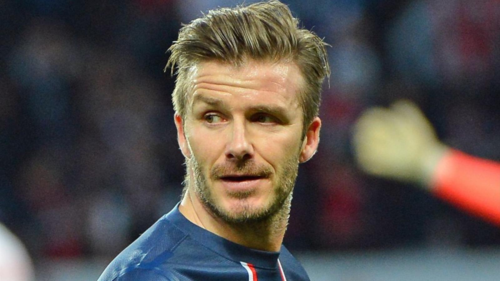 David Beckham Haircut 2013 Back PSG-Barça: David ...