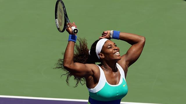 Serena emporte tout sur son passage