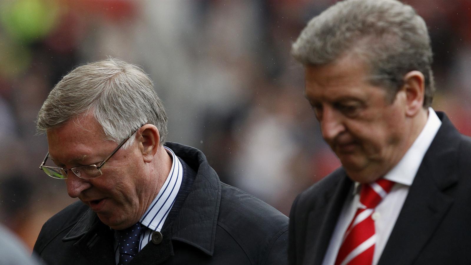 Manchester United manager Alex Ferguson (L) and England boss Roy Hodgson (Reuters)