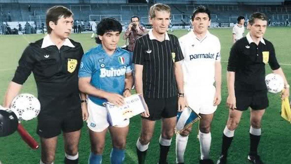 Maradona at Naples in 1987