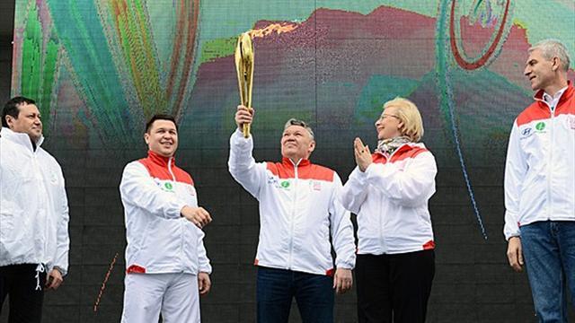 Krasnoïarsk accueille la flamme