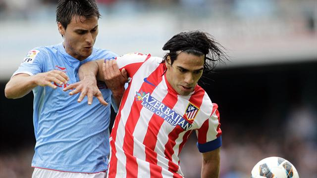Falcao grabs winner as Atlético beat Celta Vigo