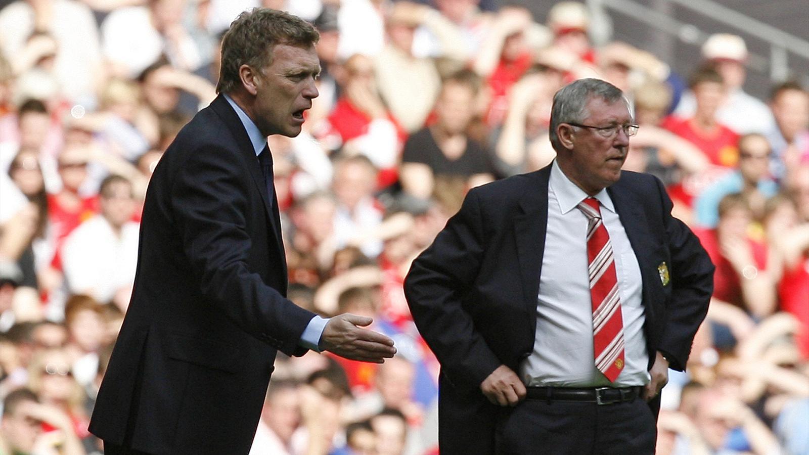 David Moyes, Sir Alex Ferguson (AFP)