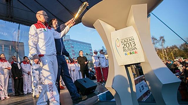 Universiade d'été 2013 : La vasque de la ville de Novossibirsk a été allumée
