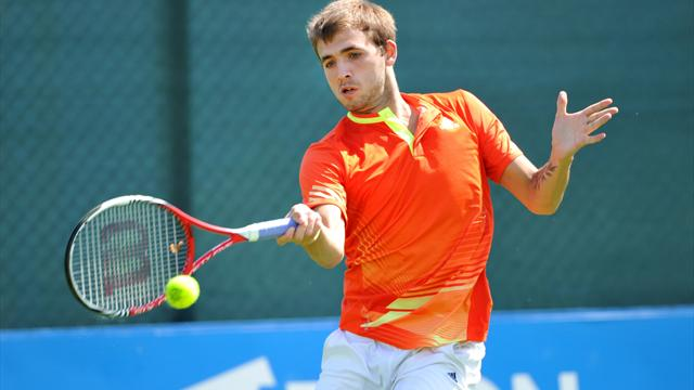 Evans to meet Klein in Aegon second round