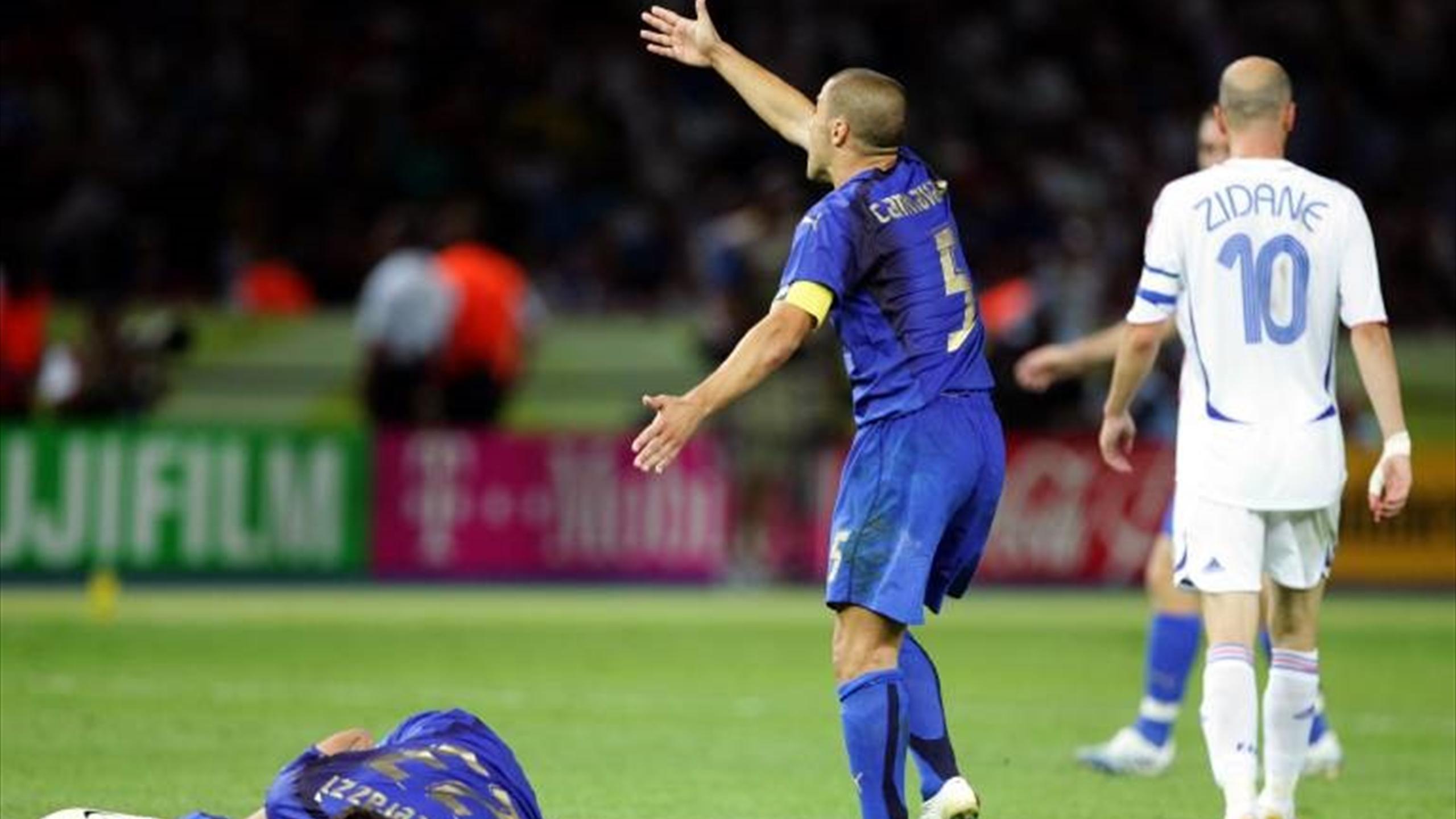 Materazzi sulla testata di Zidane ai Mondiali: