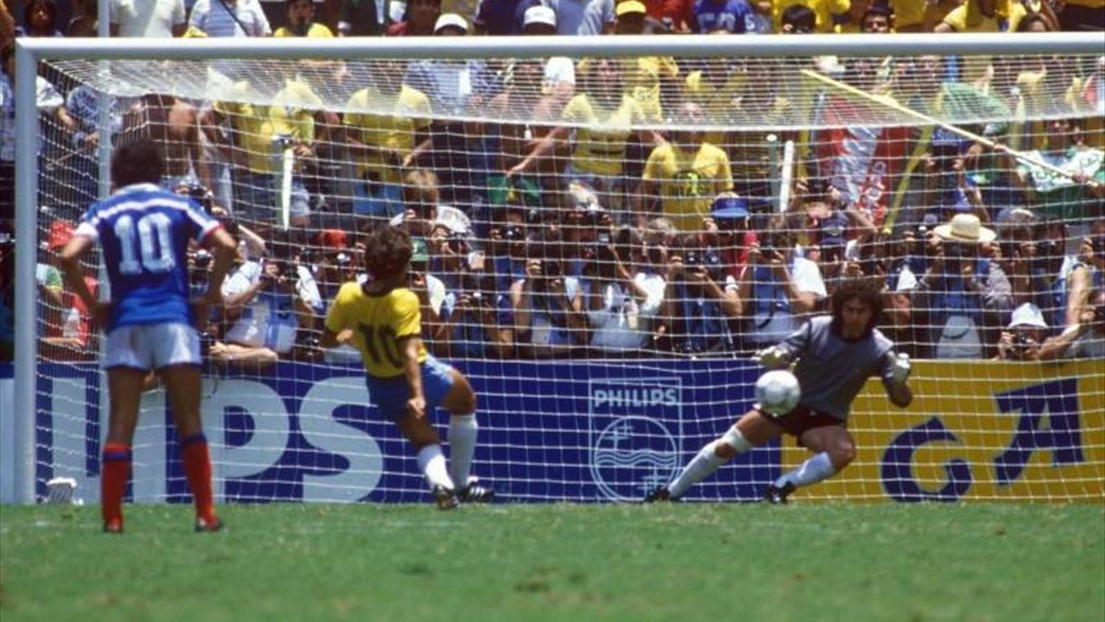 France - Brésil en 1986