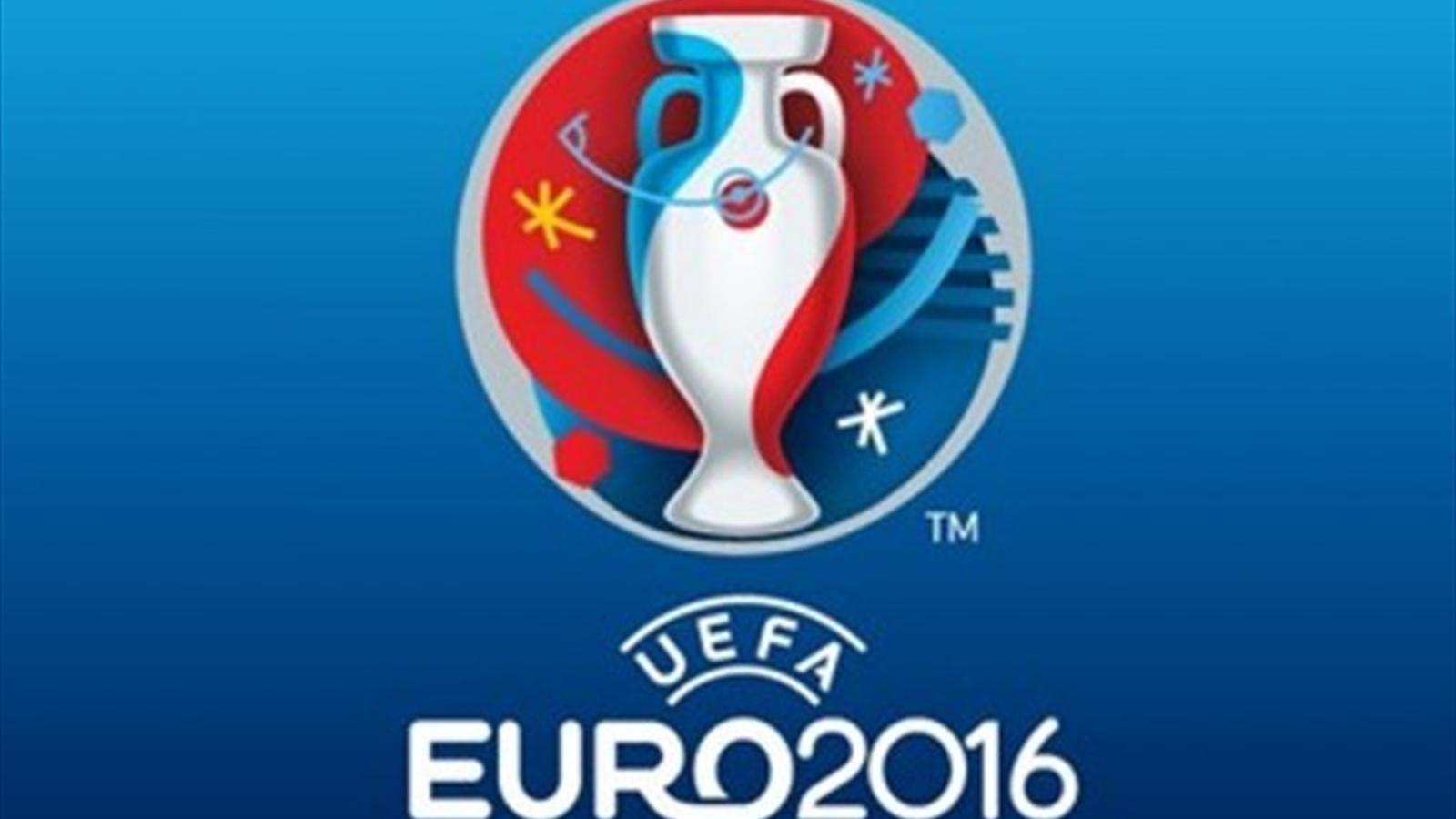 le logo de l 39 euro 2016 d voil par l 39 uefa et michel platini euro 2016 football eurosport. Black Bedroom Furniture Sets. Home Design Ideas