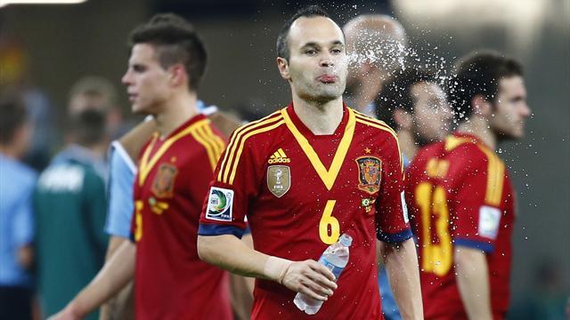 Iniesta frustrated by referee display