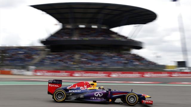 Vettel Almanya'da şeytanın bacağını kırdı