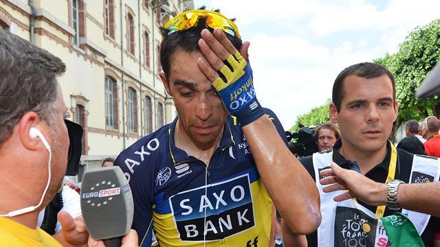 Contador en prend plein la tête