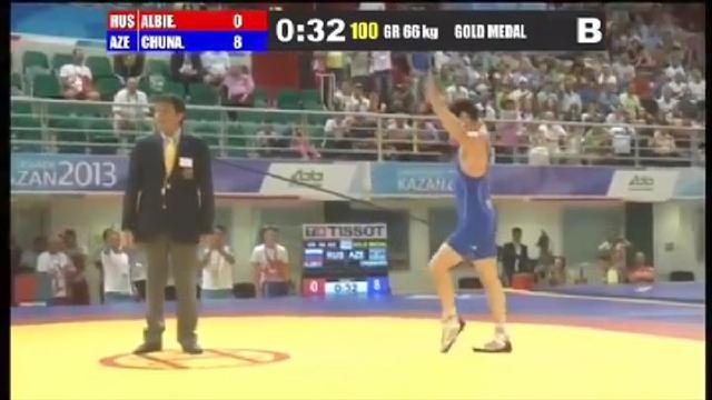 Azeri güreşçiden danslı kutlama