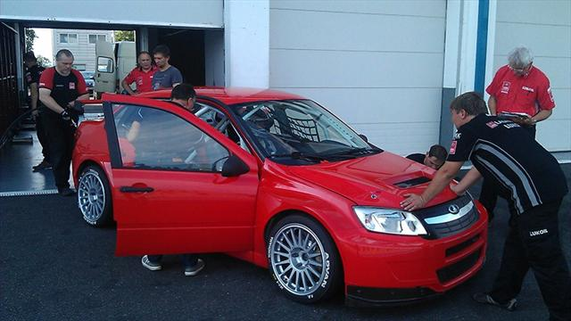 LADA Sport test for 2014 at Magny-Cours