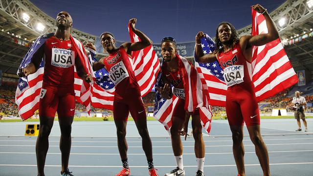 USA bounce back from Olympic disappointment with relay gold