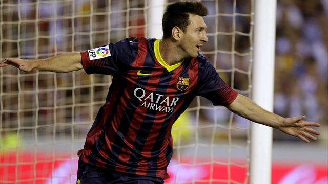 Messi hat-trick helps Barcelona past Valencia - Liga 2013-2014 ...
