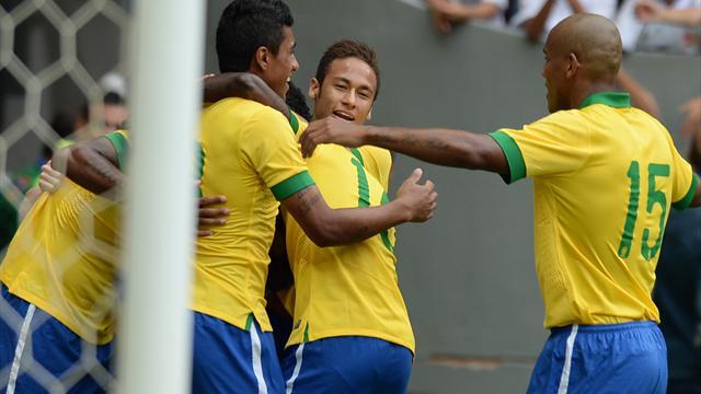 Premier set pour le Brésil