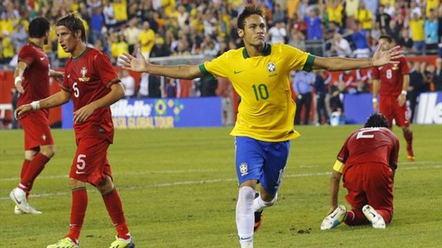 Neymar sparkles as Brazil down Portugal