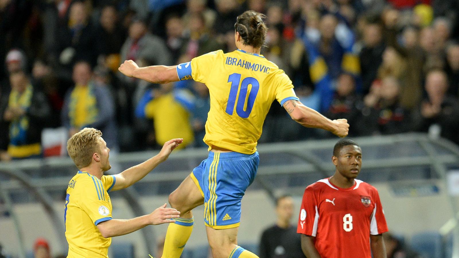 Su de autriche 2 1 zlatan ibrahimovic buteur passeur - Classement qualification coupe du monde ...