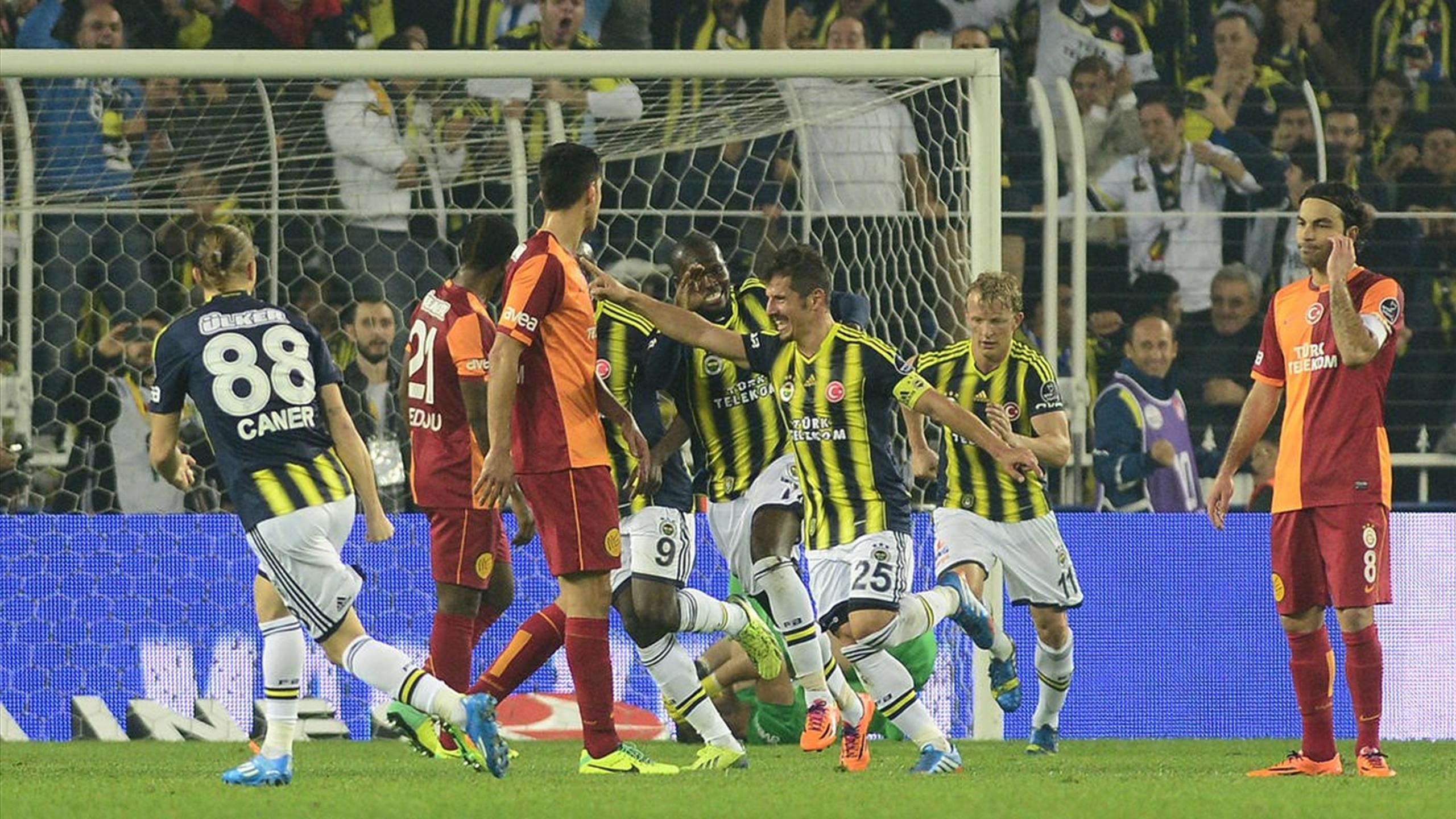 Fenerbahçe'in Kadıköy'de Galatasaray'a Yenilmediği 19 lig maçı 18