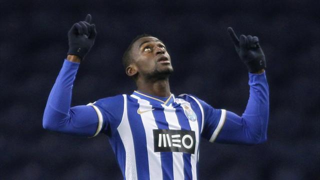 Porto's Jackson Martinez celebrates his goal against Austria Vienna (Reuters)