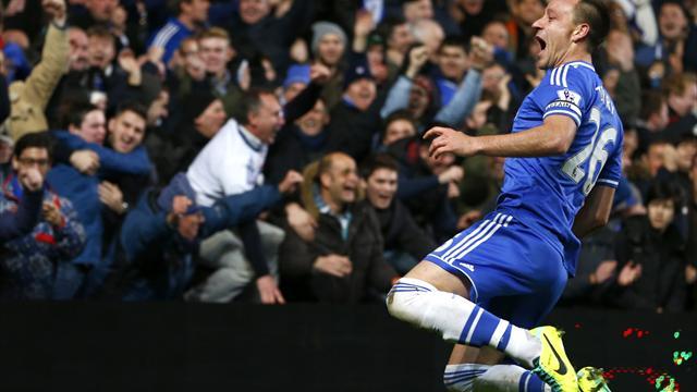 Terry nets on milestone in rousing Chelsea win