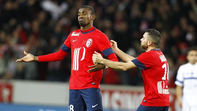 Joie Salomon Kalou et Marvin Martin (Lille) Bastia Ligue 1 2013/2014