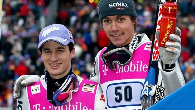 Свен Ханнавальд и Мартин Шмидт в 2002 году