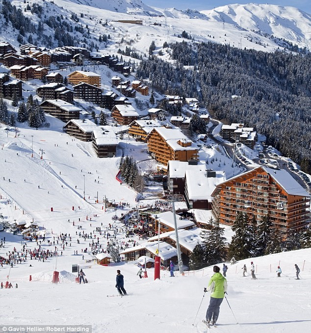 ski resort meribel, france