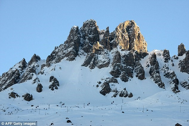 Dent de Burgin tepesi, Meribel, france