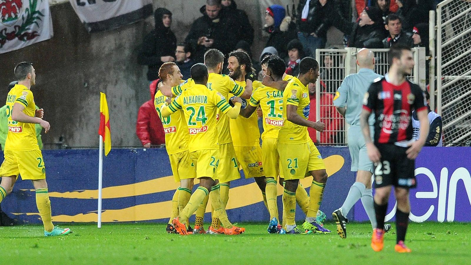 Coupe de la ligue nantes nice 4 3 les canaris en demi finale coupe de la ligue 2013 - Coupe de la ligue 2013 14 ...