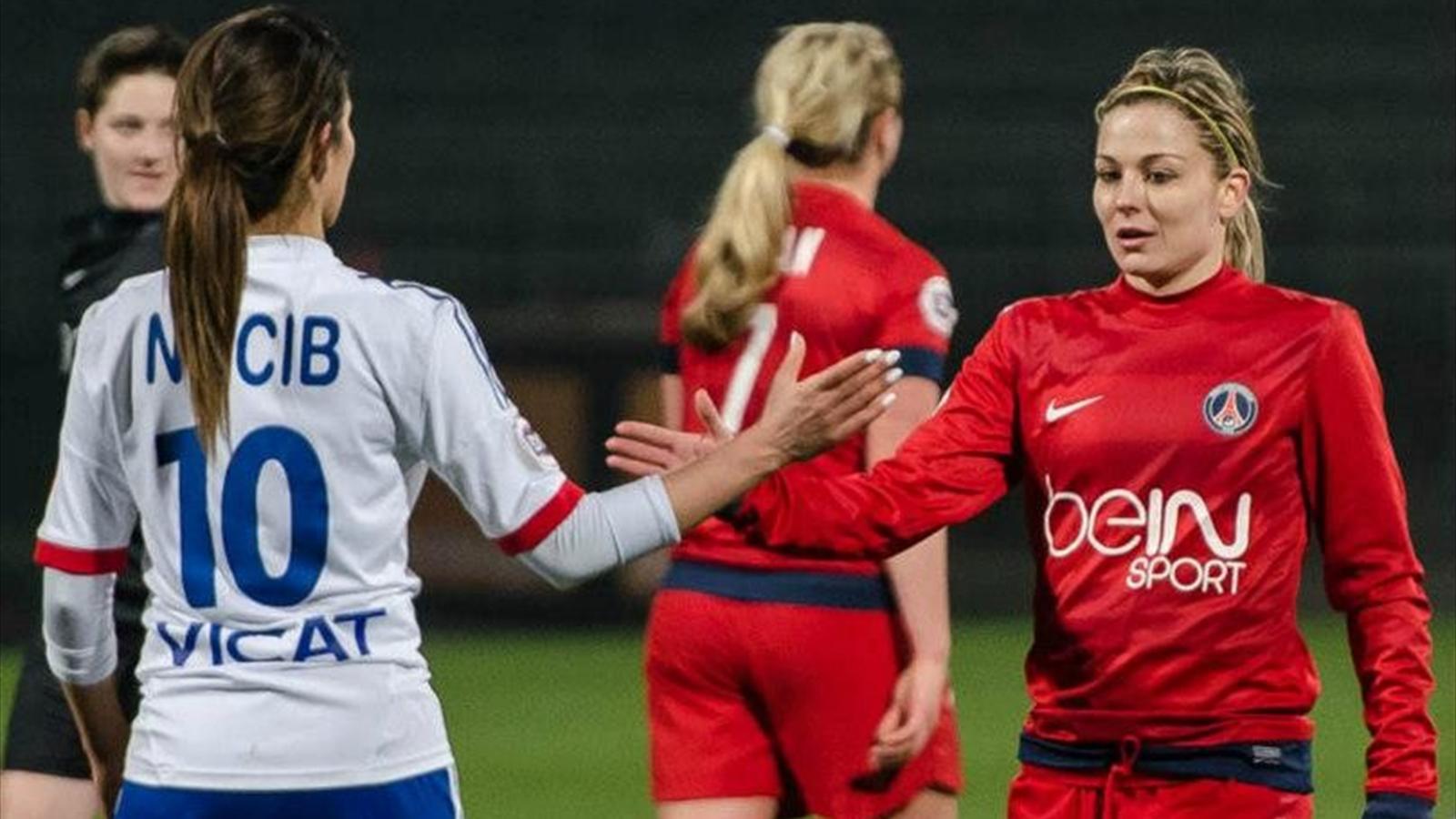 Le duel ol psg en chiffres football f minin 2013 football eurosport - Coupe europe foot feminin ...
