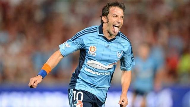 Sydney forması giyen Alessandro Del Piero