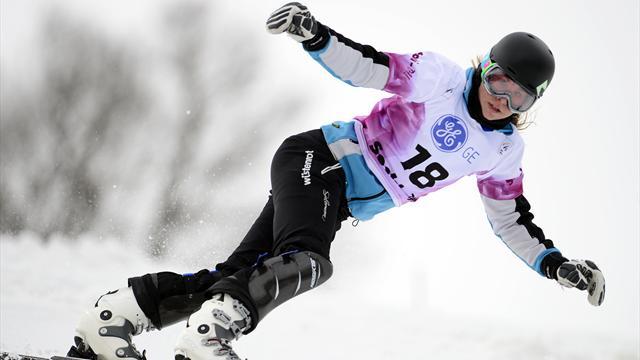 Ester Ledecka And Andrey Sobolev Take Parallel Slalom