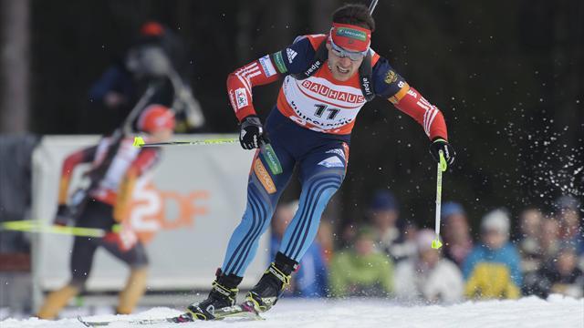 Эберхард выиграл спринт, россияне не попали в двадцатку