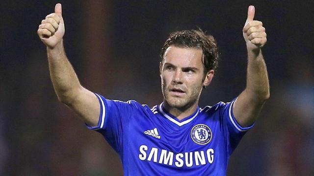 Juan Mata salutes Chelsea fans (Reuters)