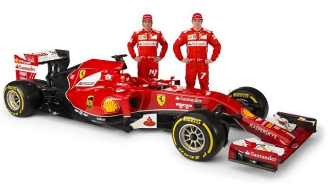 Alonso Ferrari Fire Ferrari's Alonso Raikkonen
