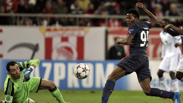 Olympiakos' Michael Olaitan (AFP)