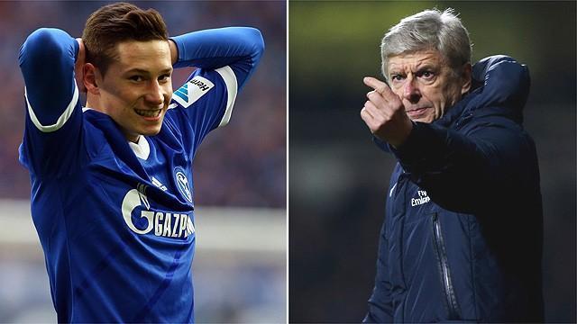 Arsène Wenger (r.) will Julian Draxler zu Arsenal holen