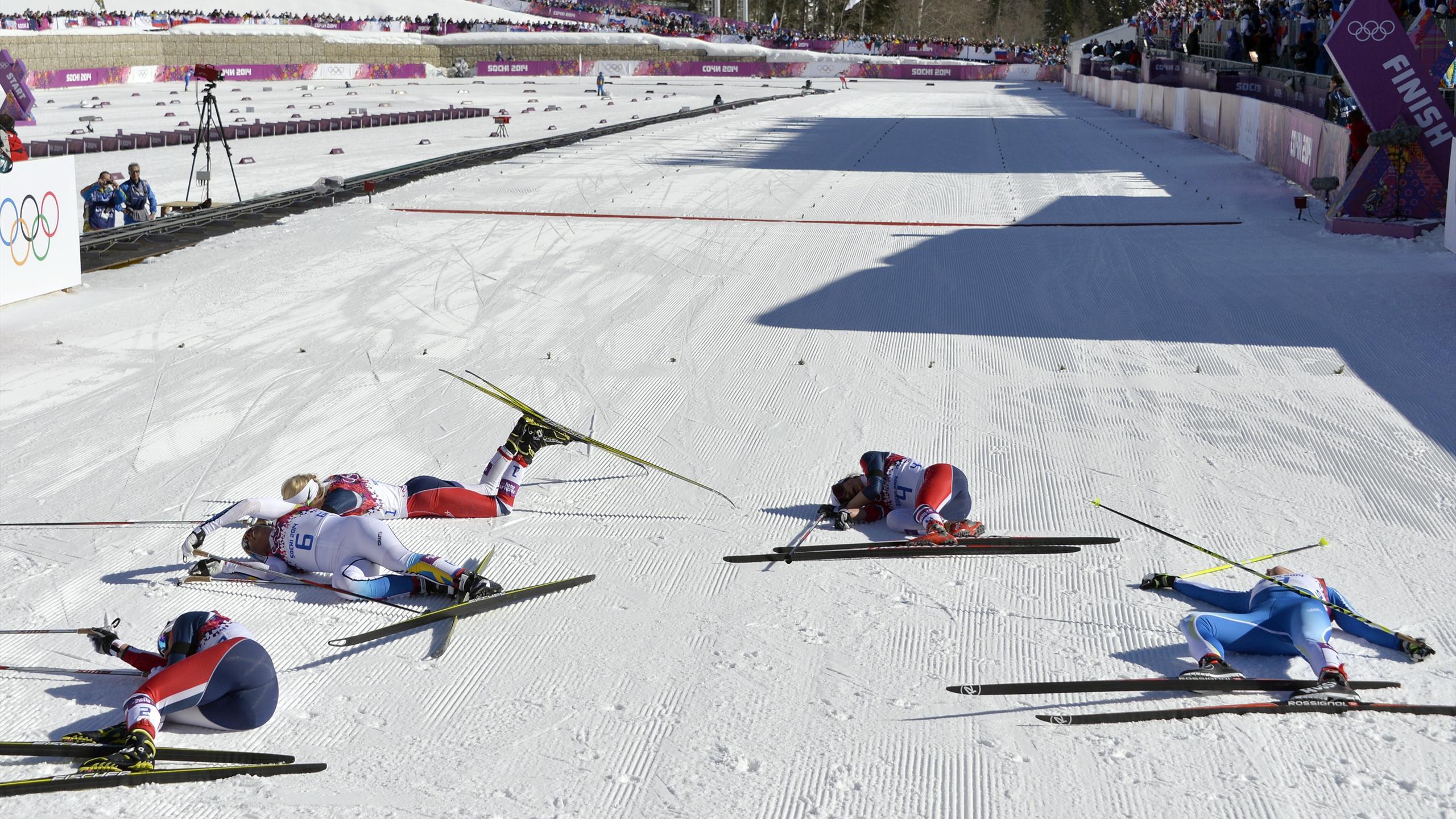 Лыжные гонки смешные картинки