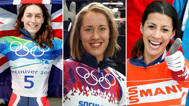 Why are British girls so good at hurtling head-first down icy tracks?