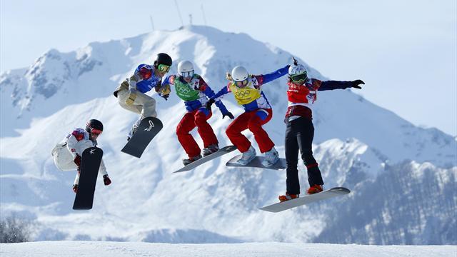 Samkova last woman standing amid snowboard cross carnage