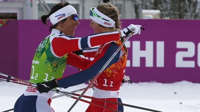 Kayaklı koşuda en hızlılar Norveç ve Finlandiya