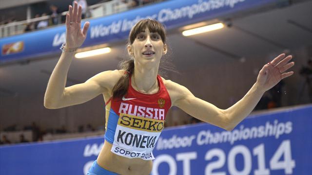 Конева – чемпионка мира в тройном прыжке