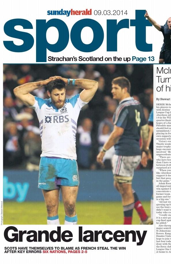 Une cahier sport 2 Sunday Herald - 9 mars 2014