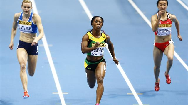 Fraser-Pryce triumphs, US men set relay record