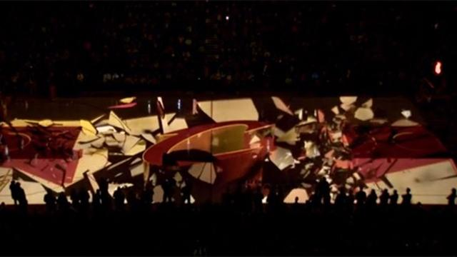 Watch Nba Team S Incredible 3d Floor Projection System Nba 2009