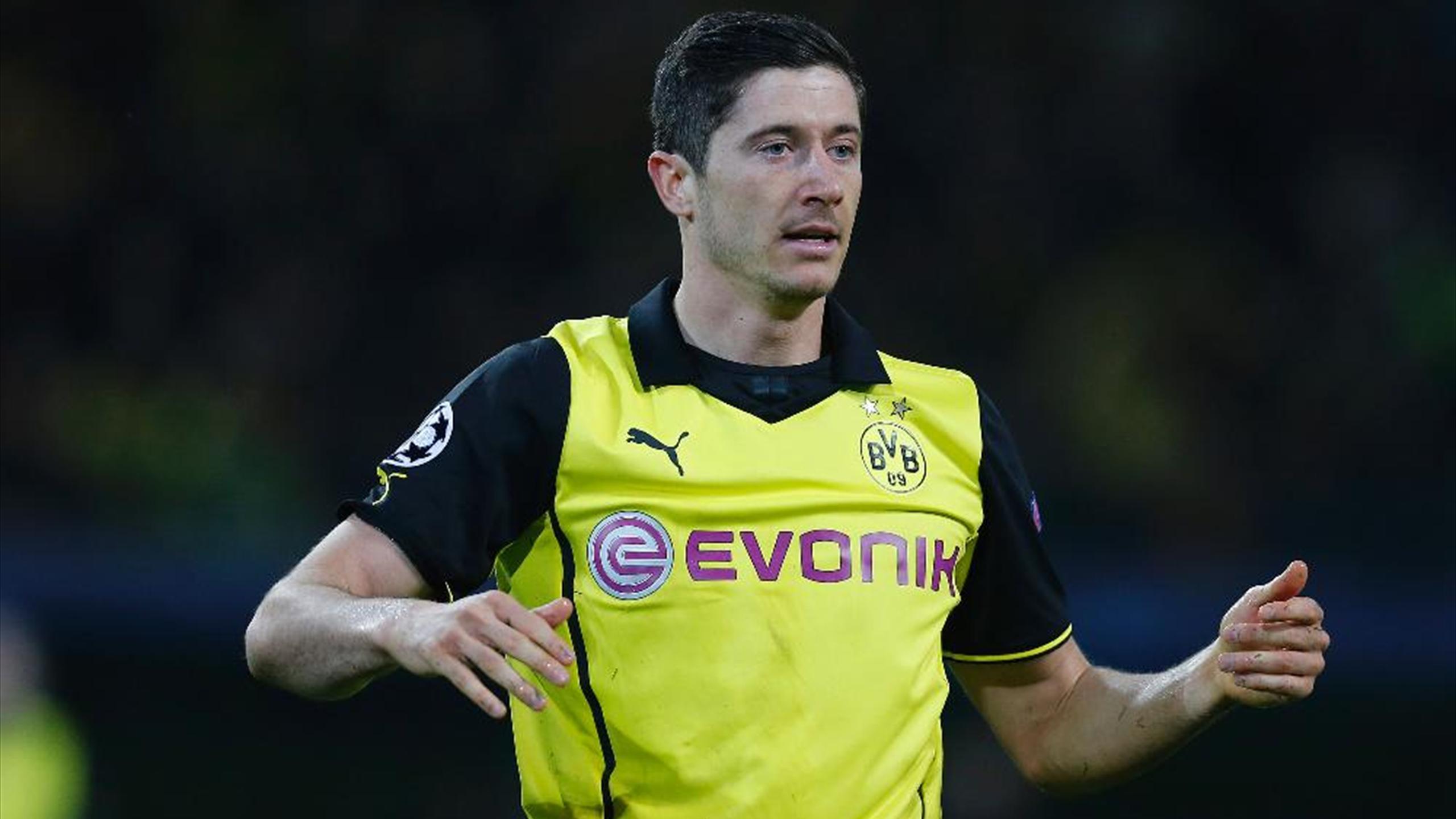 Robert Lewandowski möchte mit Dortmund einen Titel holen