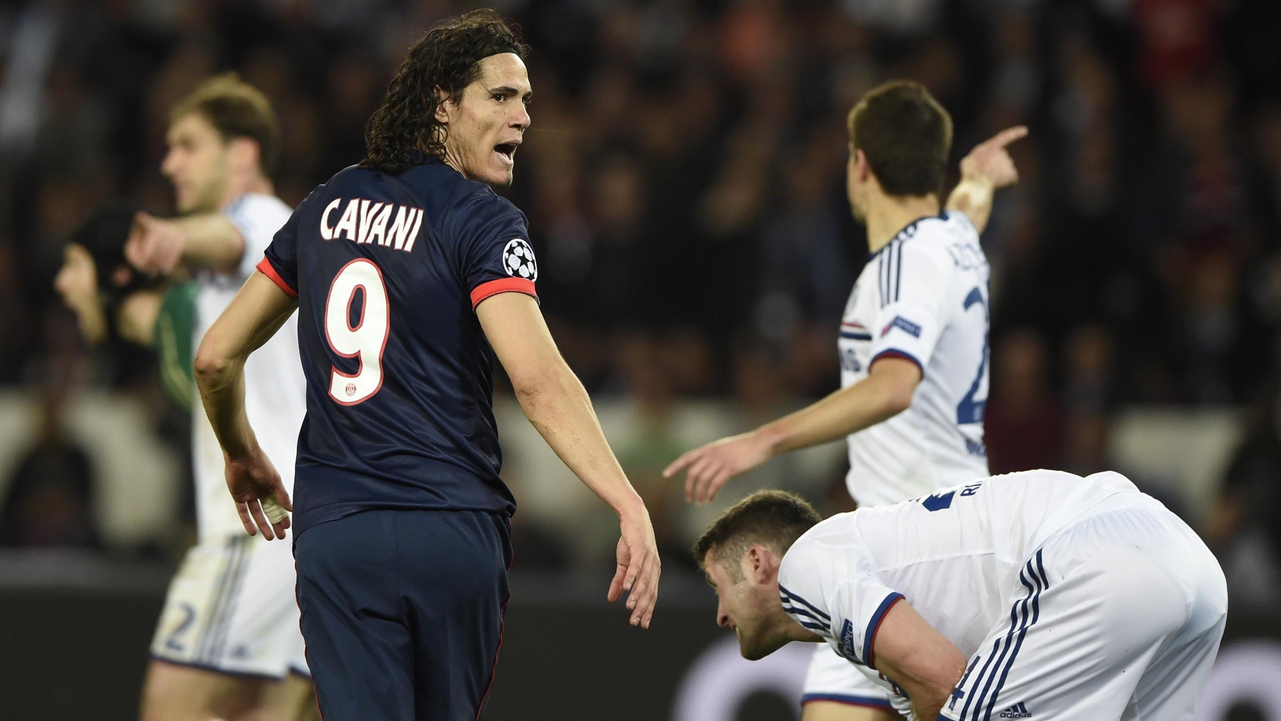 Edinson Cavani, PSG - Chelsea, 2014