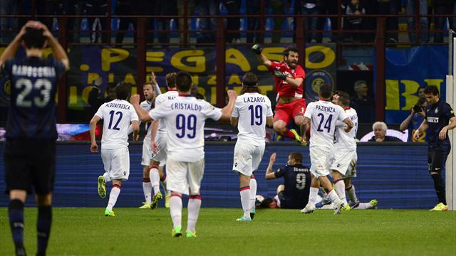 Inter flop in Bologna draw, Toni decides Verona derby